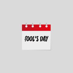Fools day. Vector flat daily calendar icon.