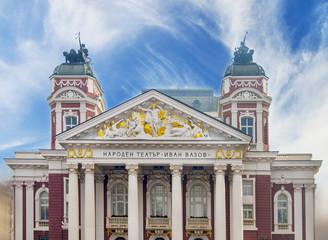 SOFIA, BULGARIA - JANUARY 03: Bulgarian National Theatre Ivan Vazov, on January 03, 2017 in Sofia, Bulgaria