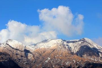 冬の阿蘇 高岳の風景