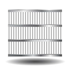 Prison bars of steel