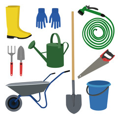 Set for the garden . set of  garden  workers tools and accessories