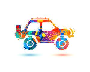 Jeep travel splash paint icon