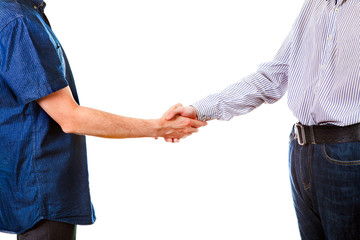 Two Persons Handshake