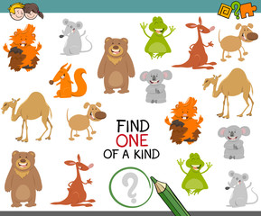 one of a kind game with animals