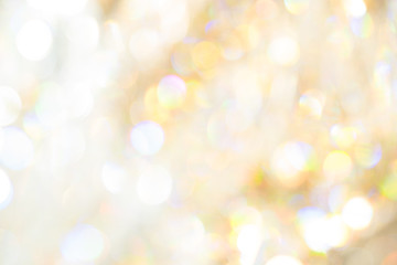 Soft yellow and white light Crystal blur bokeh luxury abstract background