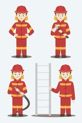 Fireman isolated vector illustration