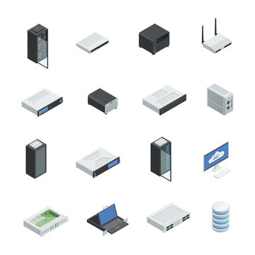 Data Center Icon Set
