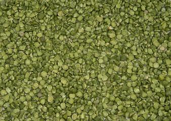 Dry split green peas texture