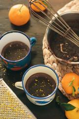 tangerine hot chocolate