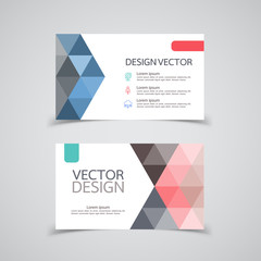 Abstract Business Card Set . Vector illustration.