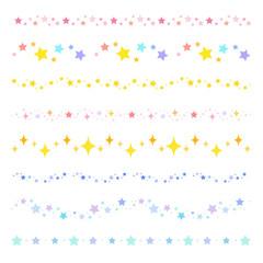 星のラインセット  カラフル  / vector eps