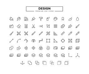 Design line icon set
