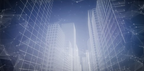Composite image of illustrative image of city 3d