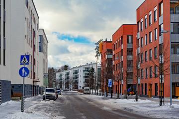 Fond de hotte en verre imprimé New York City Apartment house in Finland