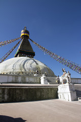 Stupa of Buddhist Temple in Nepal