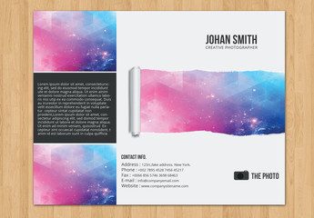 Trifold Brochure Layout with Paper Tear Element 3