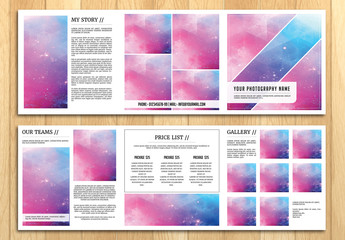 Square Grid Style Photography Brochure Layout 1