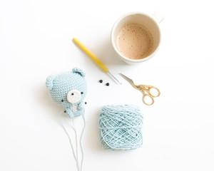 Crochet Doll for Beginner on White Background