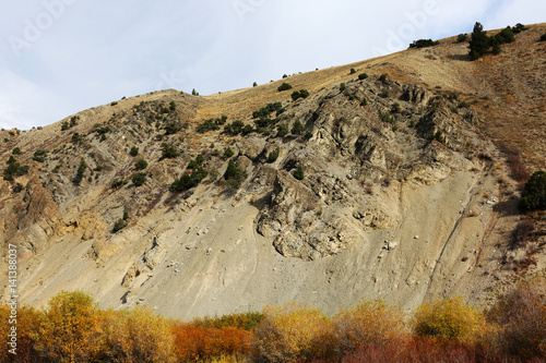 Wall mural Side of Rugged Wyoming Mountain
