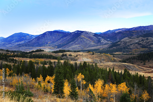 Wall mural Fall Colors in Mountain Scenic