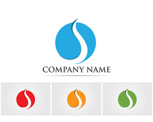 Wave water blue logo