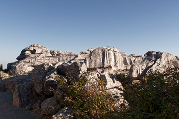 El Torcal, Antequera, unesco world heritage and nature reserve rock formation, Andalusia, Spain
