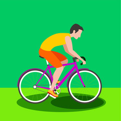 Road Cycling Cyclist Bicyclist Athletes Sportsman race Icon. Individual Sport vector stock.