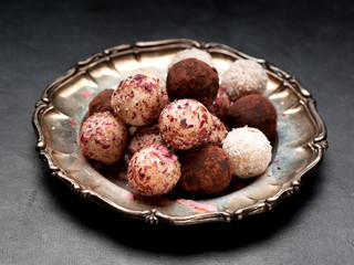Indian Raw vegan truffles candy gluten-free balls