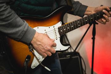 Chitarra elettrica ad una festa
