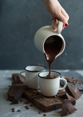 Wall Murals Chocolate Pouring Hot chocolate
