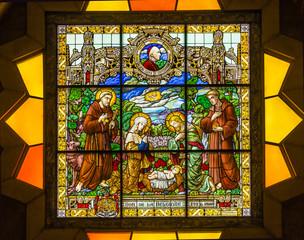 Nativity Stained Glass Saint Catherine Church Nativity Church Bethlehem West Bank Palestine