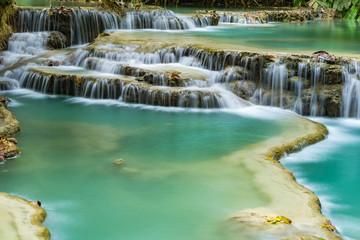 Tat Kuang Si Waterfalls or Kuang Xi falls,Laos.
