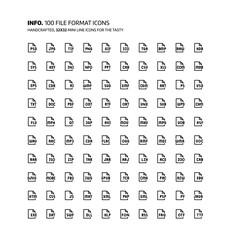 File formats mini line, illustrations, icons