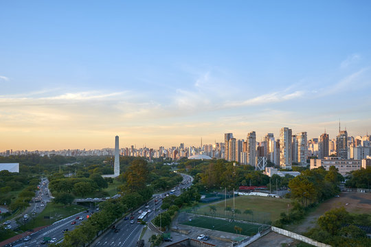 Ibirapuera Park, Sao Paulo city, Brazil.