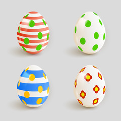 Set of color Easter eggs. Vector