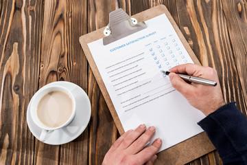 Filling In Customer Satisfaction Survey
