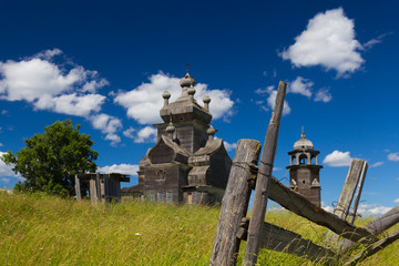Orthodox wooden church on Russian North