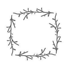 rustic square branches decoration