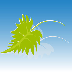 Green leaf ecology icon background