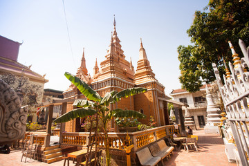 OunaLom Temple contains an eyebrow hair of Buddha. Cambodia