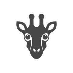 Giraffe face icon