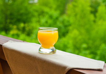 Full of glass orange juice