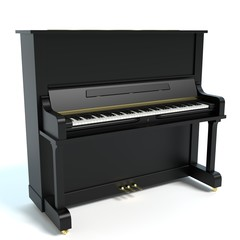 3d illustration of an upright piano