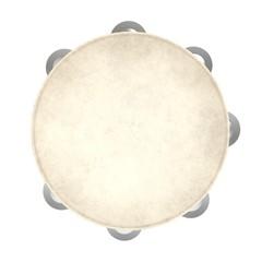 3d illustration of a tambourine