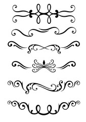 Decor pattern flora icon set for interiors Flat design style vector illustration.