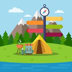 Hiking, trekking and camping