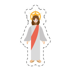 cartoon jesus christ christianity image vector illustration eps 10