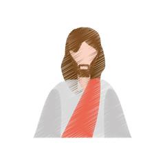 drawing jesus christ christianity vector illustration eps 10