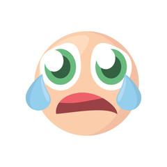 emoji crying expression image vector illustration eps 10