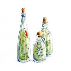 ハーブオイル瓶